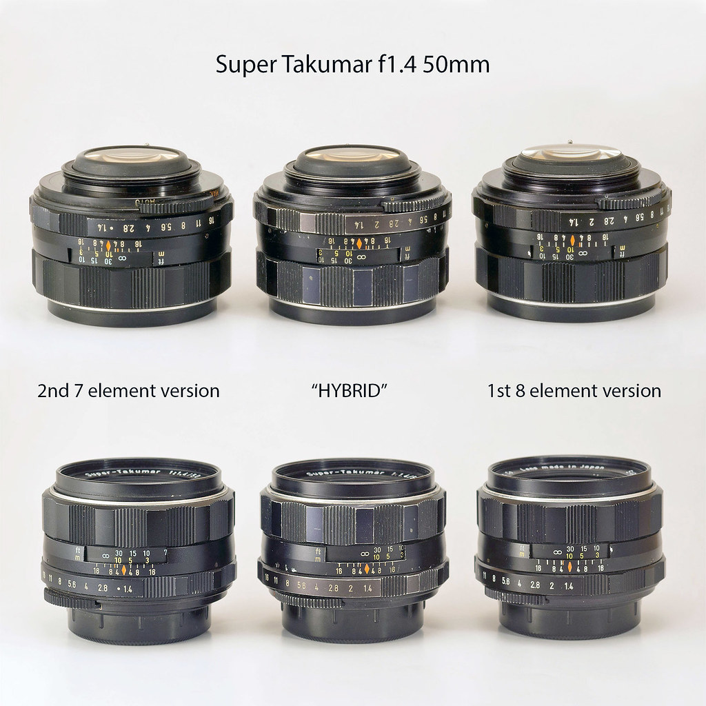 3 versions of Super Takumar f1 4/50mm ?! | 2 versions are do
