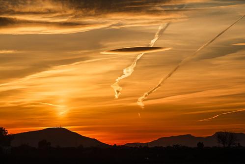 sunset sol de paisaje puesta naranja huerta almoradí bigastro