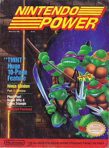 "NINTENDO POWER ::  MAY/JUNE 1989 // Vx p.50 "" TEENAGE MUTANT NINJA TURTLES "" { original review } by tOkKa"