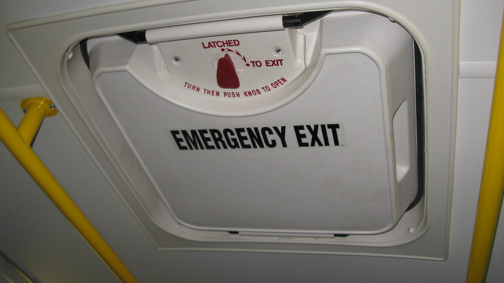 The Emergency Roof Top Escape Hatch On A Paratransit Mini