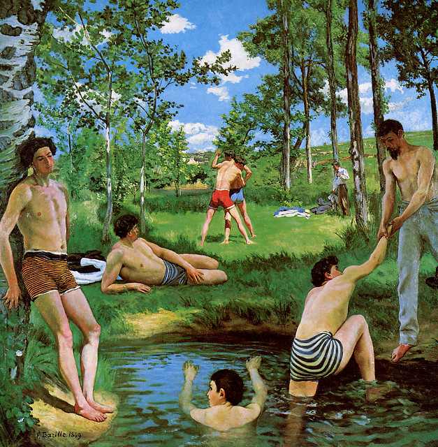 Bazille,  Frederic (French,  1841-1870)  -  Bathers,  Summer Scene  -  1968
