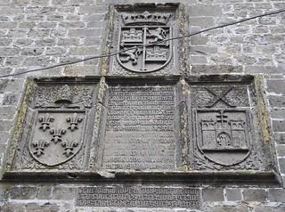 Baeza (Jaén). Catedral. Retablo heráldico de la Torre de 1395