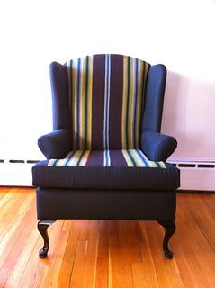 One-Of-A-Kind Iruya Wingback Chair Black | by NDWD