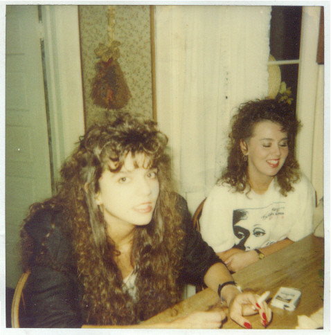 Megan and Dawn, circa 1987