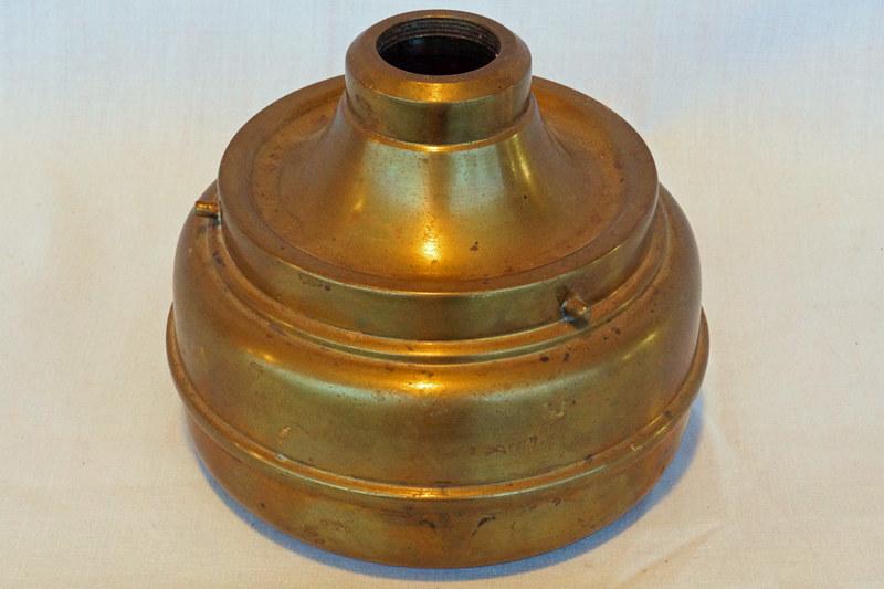 DSC02024 Antique Brass Kerosene Lamp Base