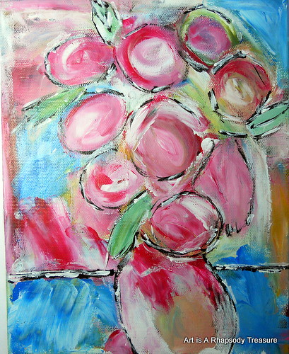 Abstract Flowers Acrylic Painting I Have Been Enjoying Mys