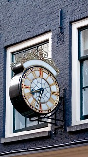Stopped and abandoned. Clock in the Spiegelstraat in Amsterdam the Netherlands | by Arjan Richter