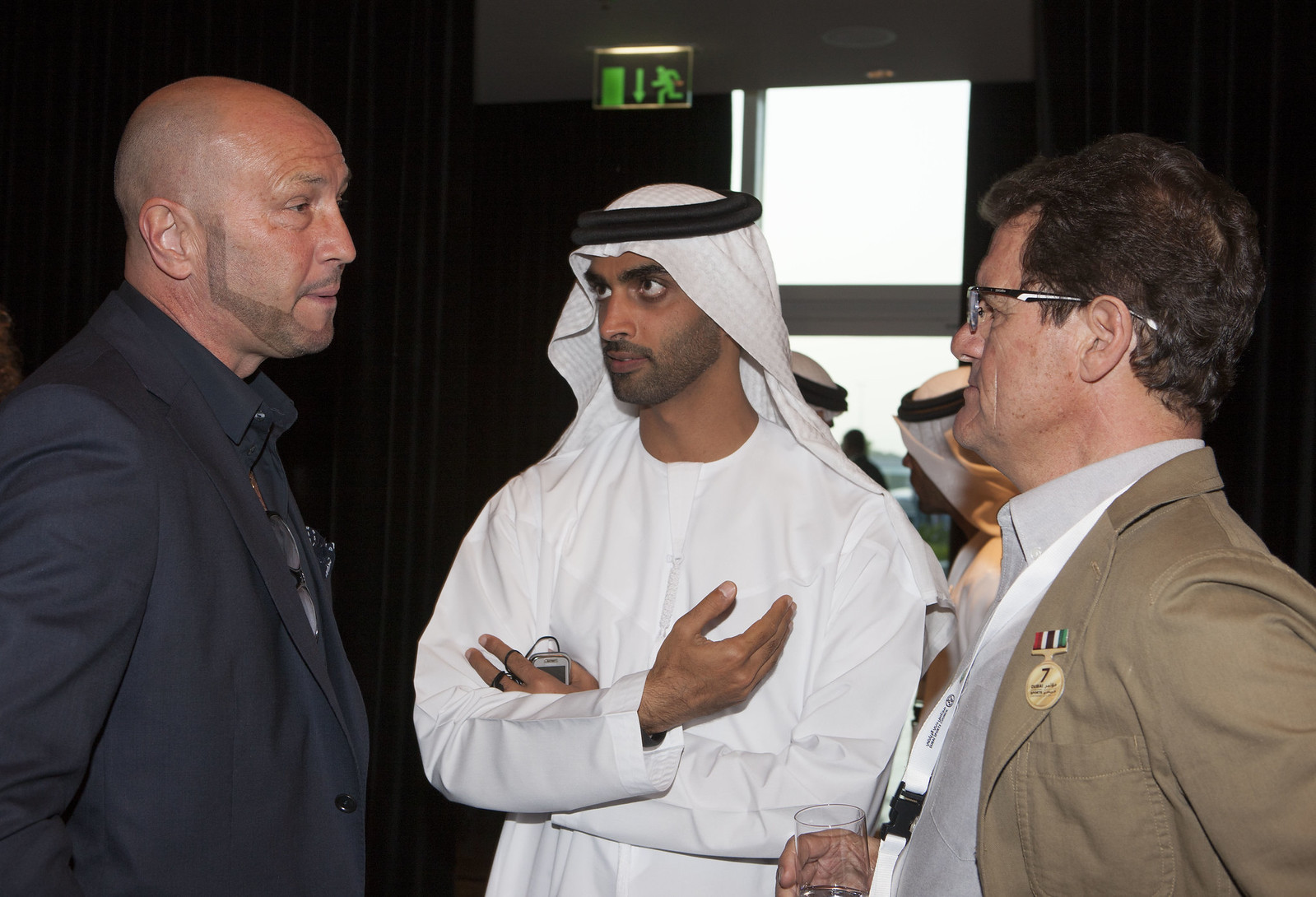 Walter Zenga, Mohammed Al Mahmood and Fabio Capello