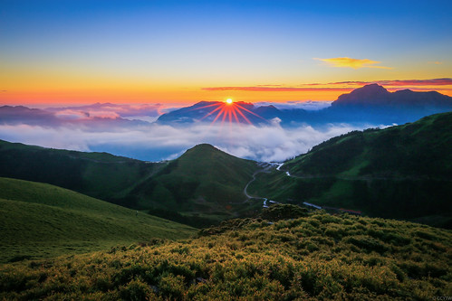 合歡山 日出 sunrise taiwan mountain