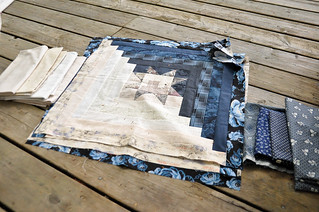 Star-y Log Cabin Quilt | by make_something