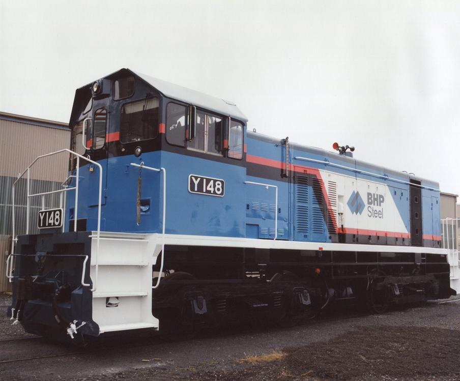 BHP's Y-148 after re-paint at Ballarat Workshops-2 by Robert Kay