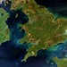 A rare cloud-free view of Ireland, Great Britain and northern France by europeanspaceagency