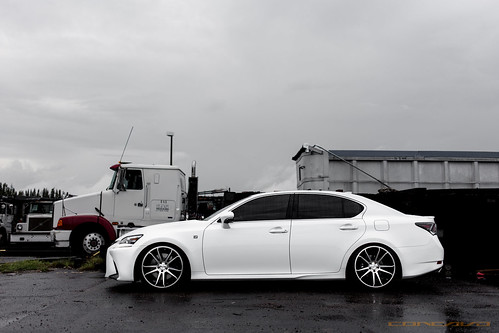 Lexus GS-F Sport on CW-S5 Matte Black Machined Face | by Concavo Wheels