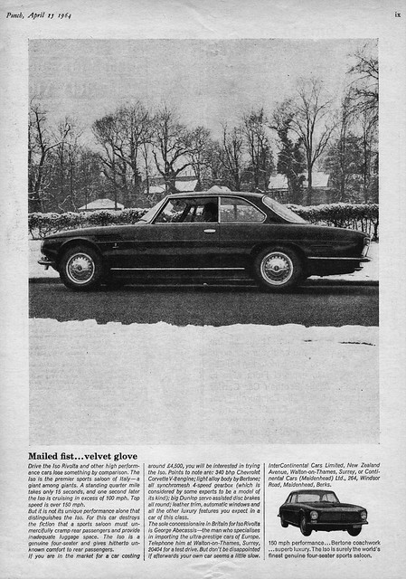 1964 Iso Rivolta (U.K. Ad)