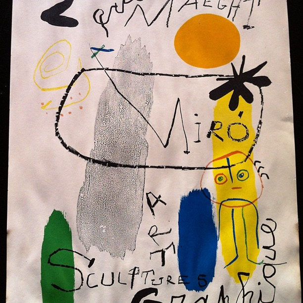 Really excited to have found a #vintage signed #print by Joan Miró!!  Needs some #restoration but it's a great example of his #art.