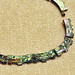 Vintage 1940s 925 Sterling Silver Taxco Abalone Choker Necklace Mexico