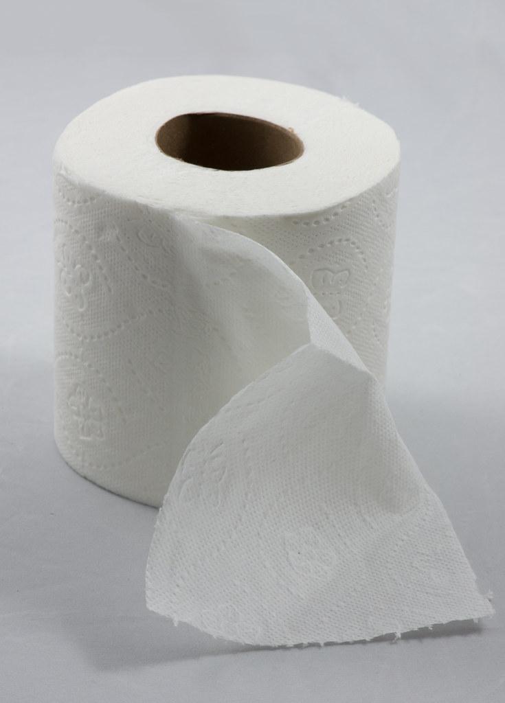 Roll Of Toilet Paper Roll Of Toilet Paper With One Sheet