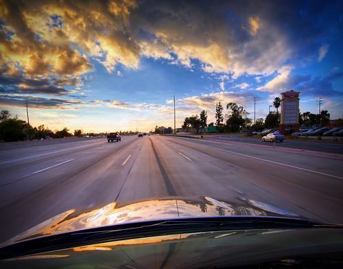 sunset sky car losangeles driving pov freeway 10freeway hyundaisonata sigma1020exdchsm michaellawenkodelapaz
