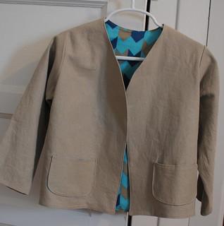Linen wedding jacket