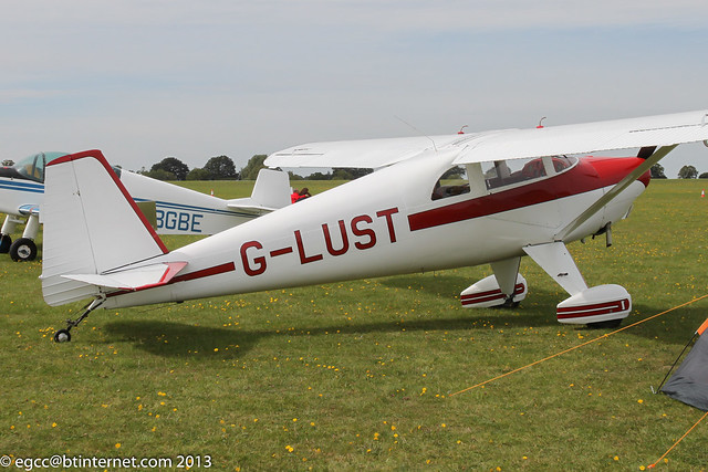 G-LUST - 1947 build Luscombe 8E Silvaire Deluxe, at Sywell during the 2013 LAA Rally