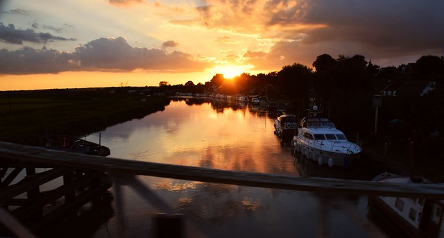 Sunset on the River Yare, Reedham, Norfolk. 29 08 2016