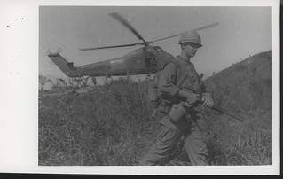 Marine Moves From a Landing Zone, 24 February 1968