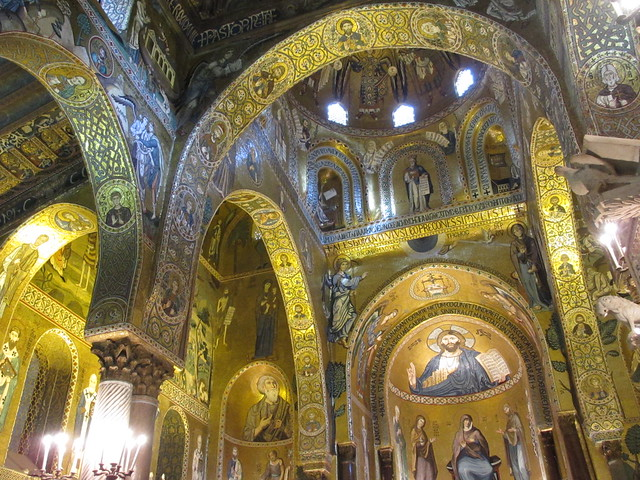 Arches and mosaics, Cappella Palatina, Palermo, Italy
