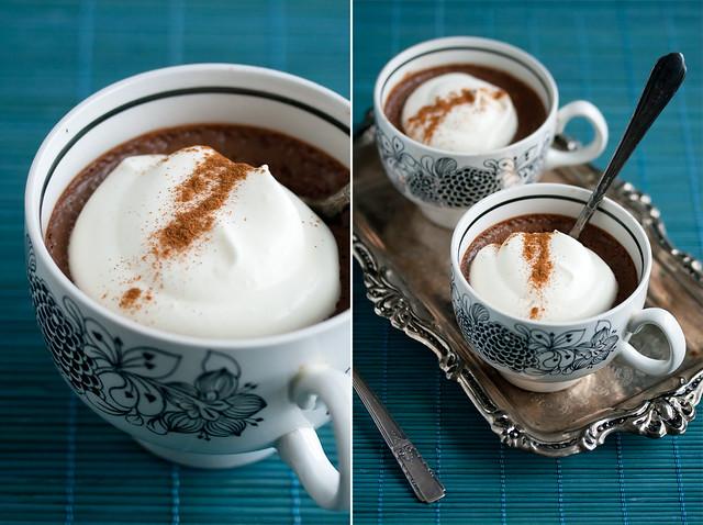 Mocha-Cinnamon Pots de Creme