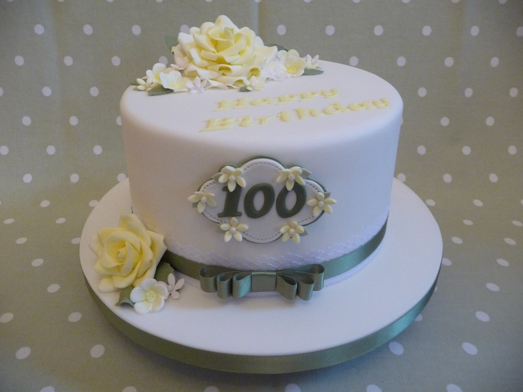 Astonishing 100Th Birthday Cake I Dont Think Ill Make Many Of These Flickr Birthday Cards Printable Riciscafe Filternl