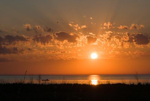sunset lake ontario canada beach point kettle huron