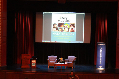 Sheryl WuDunn co-author of Half the Sky speaks at Wellesley College