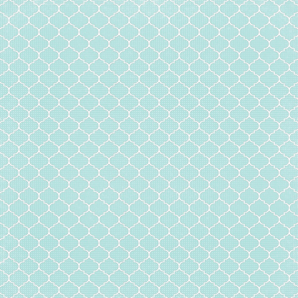 picture about Printable Patterned Paper referred to as 6 Light-weight Turquoise Dotted Moroccan Tile - free of charge printable di