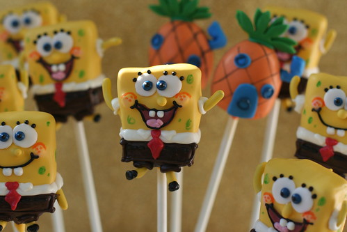 Sponge Bob Square Pants Cake Pops | by Sweet Lauren Cakes
