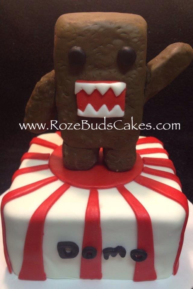Wondrous Domo Kun Cake Rozebudscakes Com Charlotte Nc Lacey Flickr Funny Birthday Cards Online Alyptdamsfinfo