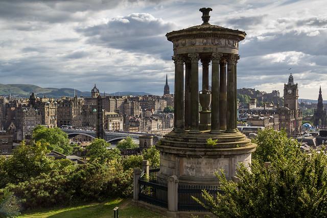 UK - Scotland - Edinburgh - Calton Hill - Dugald Stewart Monument
