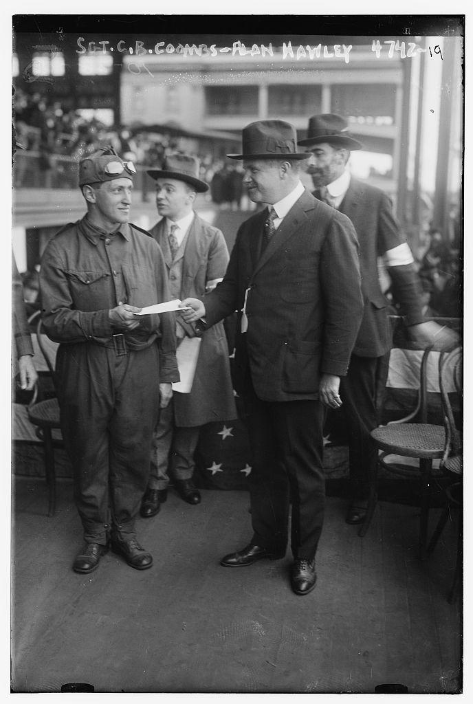Sgt. C.R. Coombs, Alan Hawley (LOC)