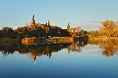 nowawieśkrólewska królewskawieś opole dzielnicaopola opolska zachódsłońca staw jezioro woda kościół sunset pond lake water church