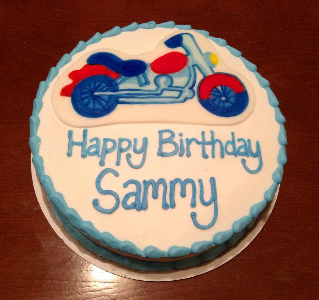 Incredible Motorcycle Birthday Cake Kimberly B Flickr Funny Birthday Cards Online Alyptdamsfinfo