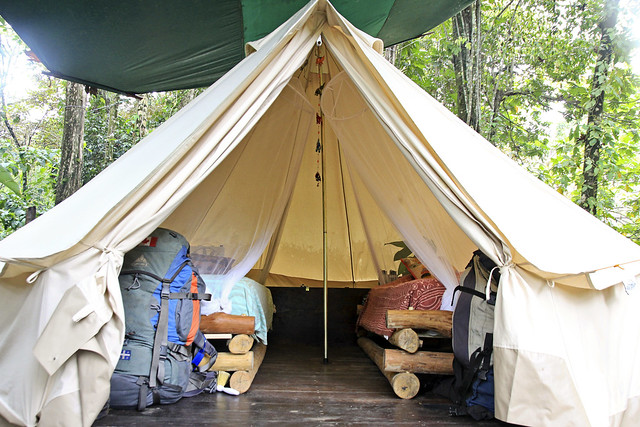Small tents even if considered to typify glamping, are not the hallmark of glamping if they do not also possess luxury
