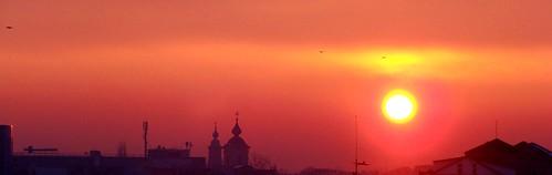 sunset warmth crows botosani