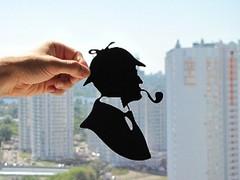 Sherlock Holmes Handmade Original Papercut