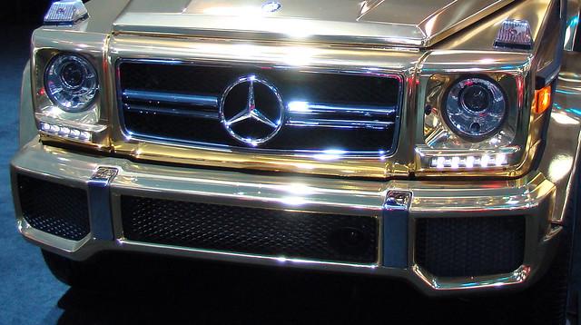 Mercedes Benz G63 AMG Gold Close Front