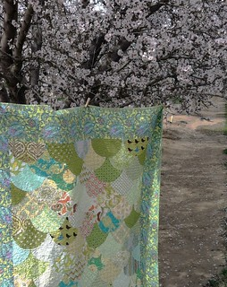 Picnic Quilt with Joel Dewberry backing in Notting Hill Teal