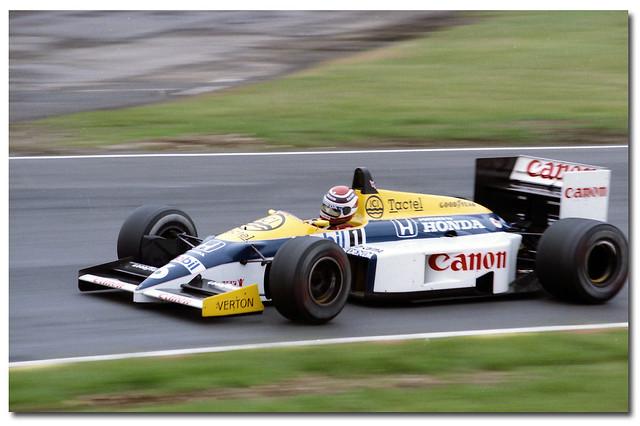 Nelson Piquet Williams Honda FW11 F1. 1986 British GP Brands Hatch