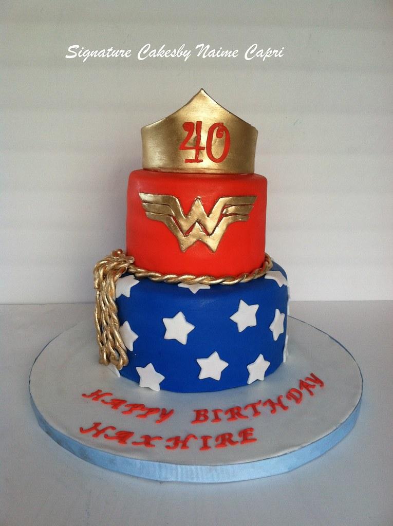 Brilliant Wonder Women 40Th Birthday Cake Facebook Com Pages Sig Flickr Funny Birthday Cards Online Alyptdamsfinfo