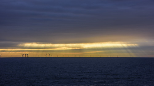 outdoor amsterdam sea ocean coast morning windmill aqua water serene wave light rays sunlight blue yellow orange lines energy power electricity nikond810 28300 nikon