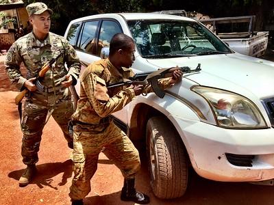 Soldiers volunteer at children's village in Burkina Faso