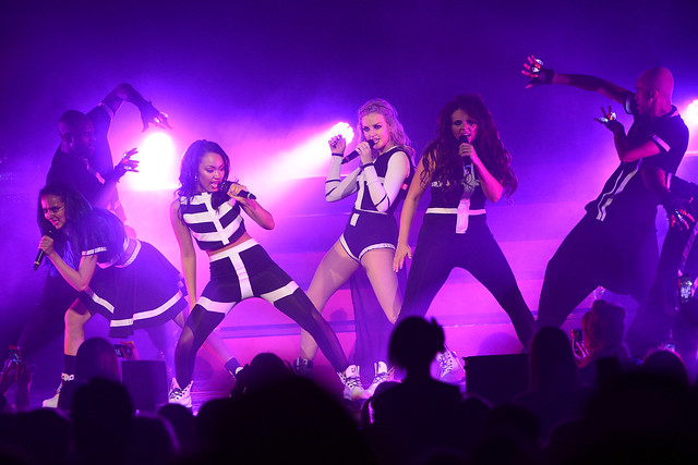 EXCLUSIVE: Little Mix on the first night of their concert in Newcastle, UK
