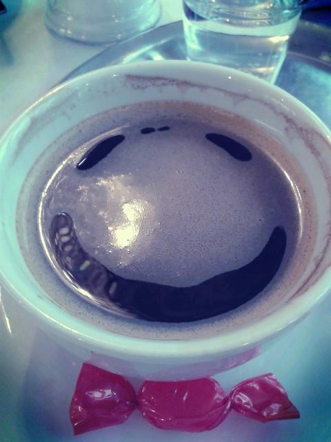 Smiling Black Coffee