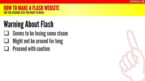 How to Make a Flash Website - PowerPoint Slide #5 | by SideWages